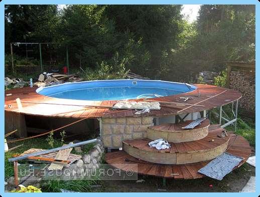 Помост для каркасного бассейна своими руками фото 61