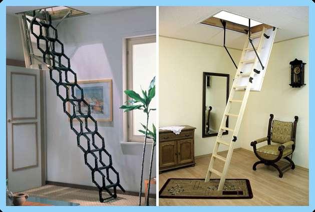 Лестница складная чердачная своими руками